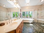 The beautiful master bathroom.