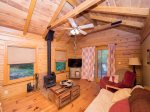 Ravenwood Cabin is half way up Lookout Mountain, close to Lookout Mountain Hang Gliding