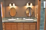 The upper deck leads to the Hot Tub and Lower Deck