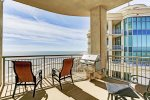 Balcony offers ocean views and offers a built in stainless steel grill for outdoor cooking.