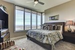 Third bedroom holds the third King size bed, TV and breathtaking Bay views.