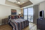 Fourth bedroom has Queen size bed and private access to Bay balcony.