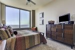 Beach Master bedroom holds a King size bed, TV and breathtaking views of the Gulf.