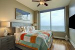 Wake up to beautiful views in your Master Bedroom with king size bed and wall mounted flat screen tv.