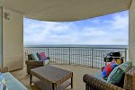 Dine, relax and enjoy the scenery on your spacious balcony overlooking the Gulf of Mexico