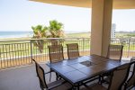 Beach balcony offers unobstructed views to the West, Pleasure Pier, sand, surf and city lights at nig