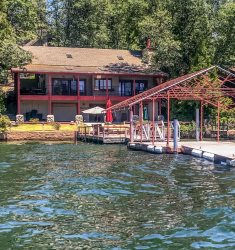 Large Lake Front Home with Private Dock
