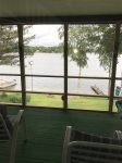 view from screened porch lake side