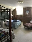 3 bedroom upstairs- 1 full/ bunk with full and twin and twin futon