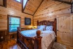 Beavers Bend Luxury Cabin Rentals - After the Sunset - King Bedroom
