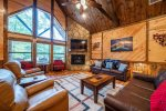 Beavers Bend Luxury Cabin Rentals - After the Sunset - Living Room