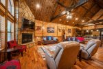 Beavers Bend Luxury Cabin Rentals - After the Sunset - Kitchen & Dining Area
