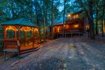 Cross Timbers - Beavers Bend Luxury Cabin Rentals - Back Evening View