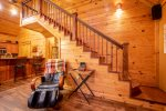 Cross Timbers - Beavers Bend Luxury Cabin Rentals - Living Room - Massage Chair