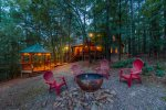 Cross Timbers - Beavers Bend Luxury Cabin Rentals - Outdoor Fire Pit