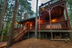 Cross Timbers - Beavers Bend Luxury Cabin Rentals - Back View