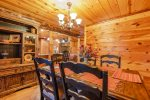 Lakeview - Beavers Bend Luxury Cabin Rentals - Dining Room