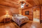 Lakeview - Beavers Bend Luxury Cabin Rentals - Main Level Bedroom