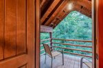Lakeview - Beavers Bend Luxury Cabin Rentals - Upstairs Right Bedroom - Balcony