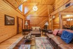 Lakeview - Beavers Bend Luxury Cabin Rentals - Living Room