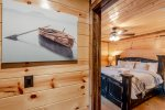 Downstairs King Suite 1  401kation Lodge  Beavers Bend Luxury Cabin Rentals