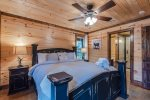 Downstairs King Suite Bathroom 1  401kation Lodge  Beavers Bend Luxury Cabin Rentals