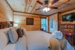 Downstairs King Suite Bathroom 2  401kation Lodge  Beavers Bend Luxury Cabin Rentals