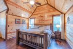 Upstairs King Suite  401kation Lodge  Beavers Bend Luxury Cabin Rentals