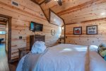 Upstairs King Suite Bathroom  401kation Lodge  Beavers Bend Luxury Cabin Rentals