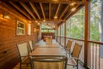 Six Person Hot Tub  401kation Lodge  Beavers Bend Luxury Cabin Rentals