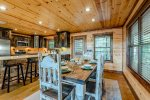 Dining Table  401kation Lodge  Beavers Bend Luxury Cabin Rentals