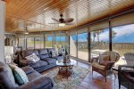 Open Living Area w/ Oceanside and Pool View, Pull Out Queen Sleeper Sofa