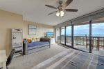 dining area, breakfast bar, wall art, bar stools