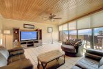 Spacious living area with modern amenities and great ocean views