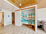 A great beach vacation rental that sleeps 4 -twin bunk beds
