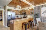 Twin over twin bunk bed alcove with privacy door