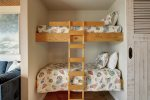 Master suite king bed with custom barn door closet