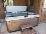 Hot tub under covered deck