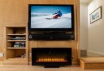 TV and electric fireplace