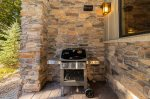 Outdoor grill on the patio