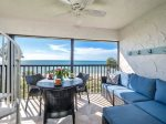 Screened lanai with beach view
