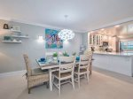 Dining room with alcove - living room and beach view