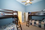 4th Bedroom Lower Level with two Double Bunk Beds
