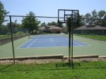 Tennis Court with Basketball Hoop