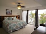 Lakeview Master Bedroom with King Bed