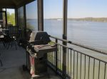 Screened in Lakeview Deck Area with Gas Grill