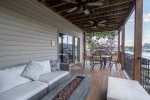 Middle Level Lakeview Deck with Fire Pit