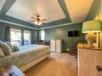 Lower Level Lakeview Bedroom with Queen Bed and Private Bath