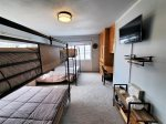 Upper Level Lakeview Bedroom with 2 Sets of Queen Bunkbeds