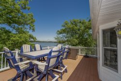 Two Level Lakefront House Sleeps 19 in Beds with Dock